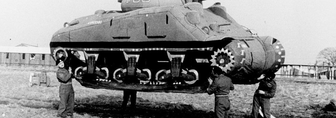 Inflatable tank used by World War II Allied forces in Operation Bodyguard
