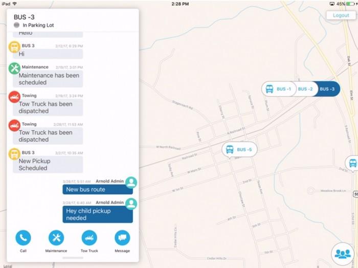 app screenshot - Tracking information visible to administrators