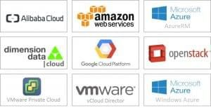 Some current supported cloud infrastructures
