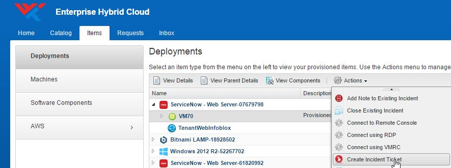 Integrating ServiceNow ITSM with VMware vRealize Automation
