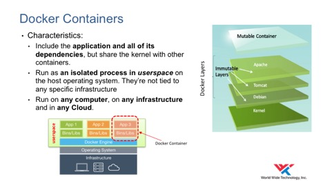 Docker containers attributes