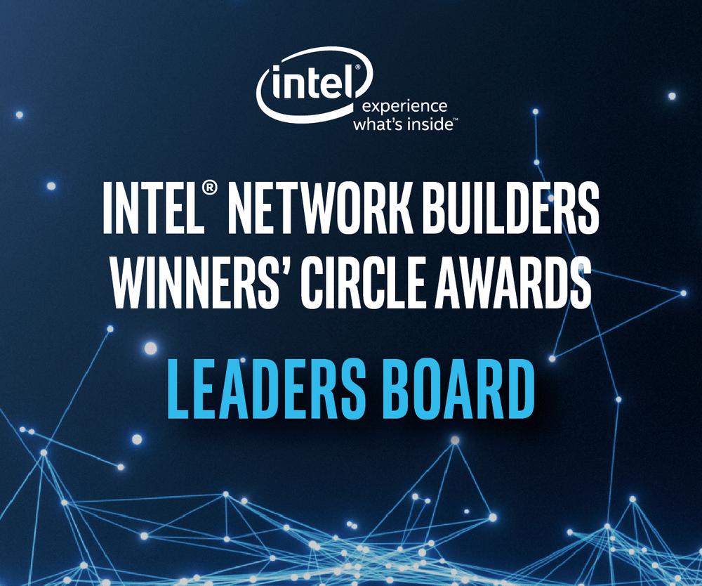 Intel Network Builders Winners' Circle Awards Leaders Board