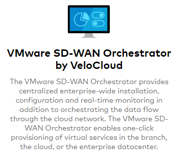 We utilized the VeloCloud SD-WAN Orchestrator which was also in the cloud for our testing in the lab.