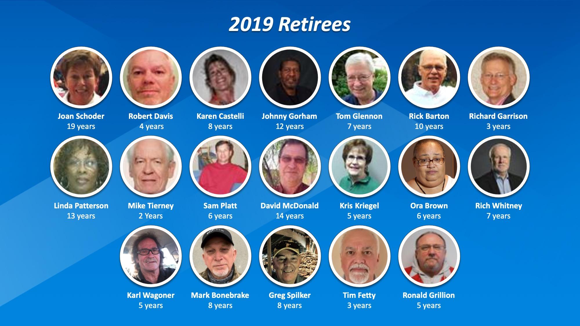 2019 WWT Retirees