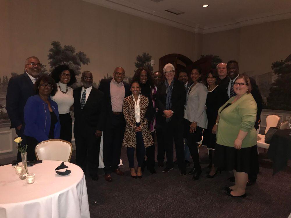 NAF CEO JD Hoye with local leaders