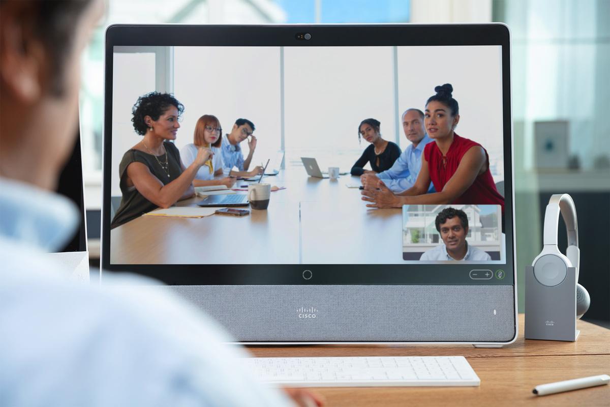 Cisco Webex conferencing in virtual meeting