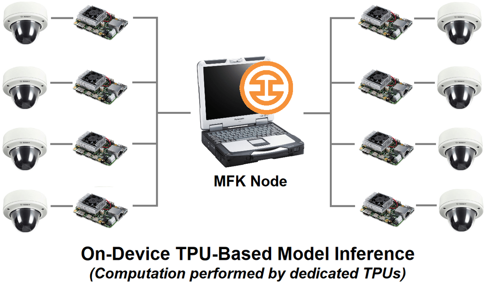 On-device TPU-based model inference architecture