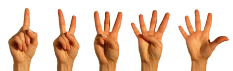 fingers visual cue