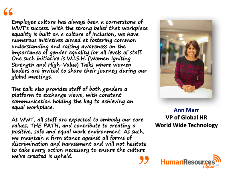 Ann Marr quote from Human Resources Online article