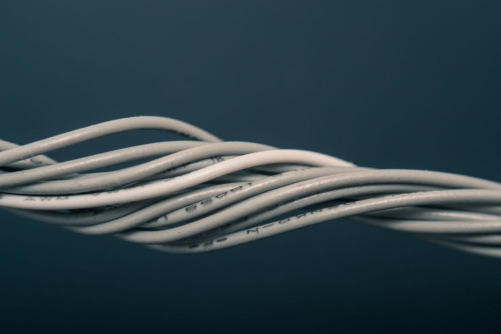 Wires twisted together
