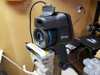 RGB-IR camera setup