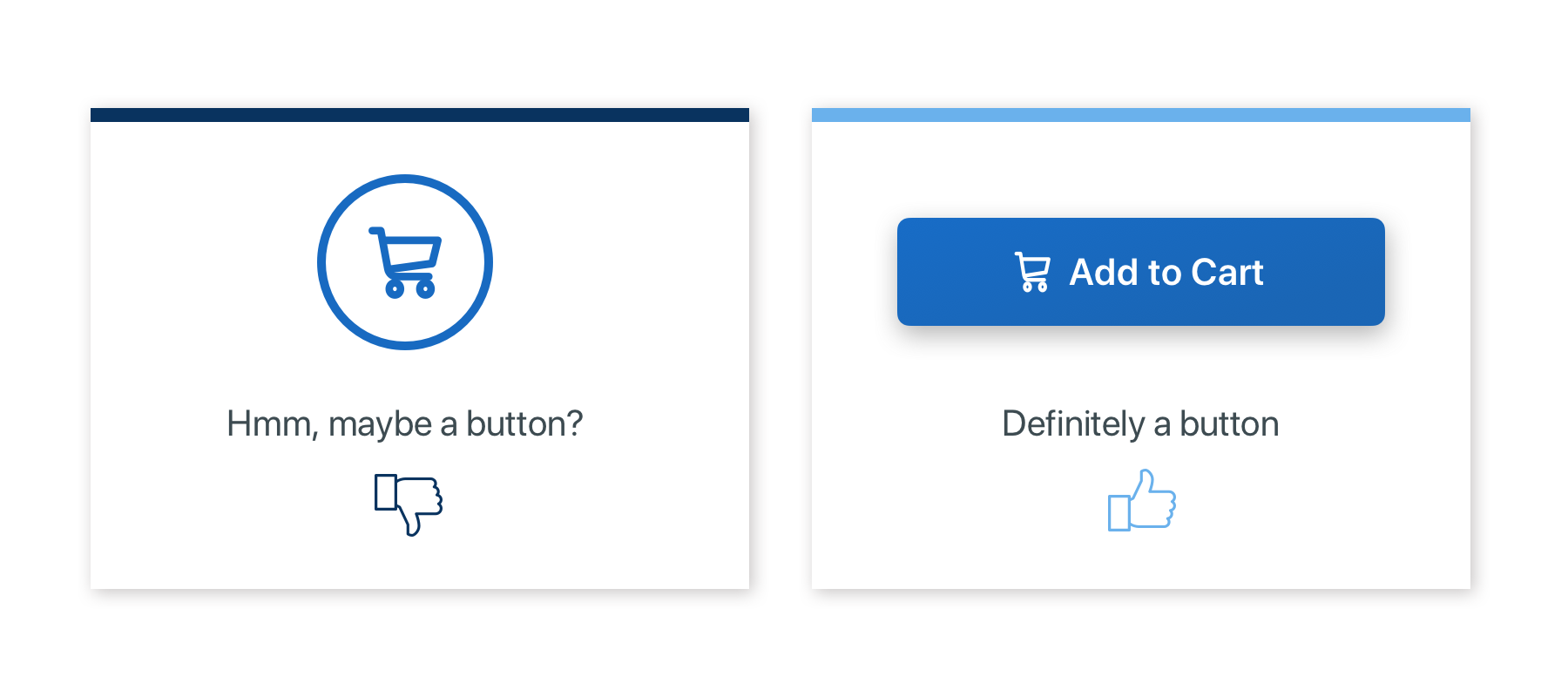 clearly designed buttons