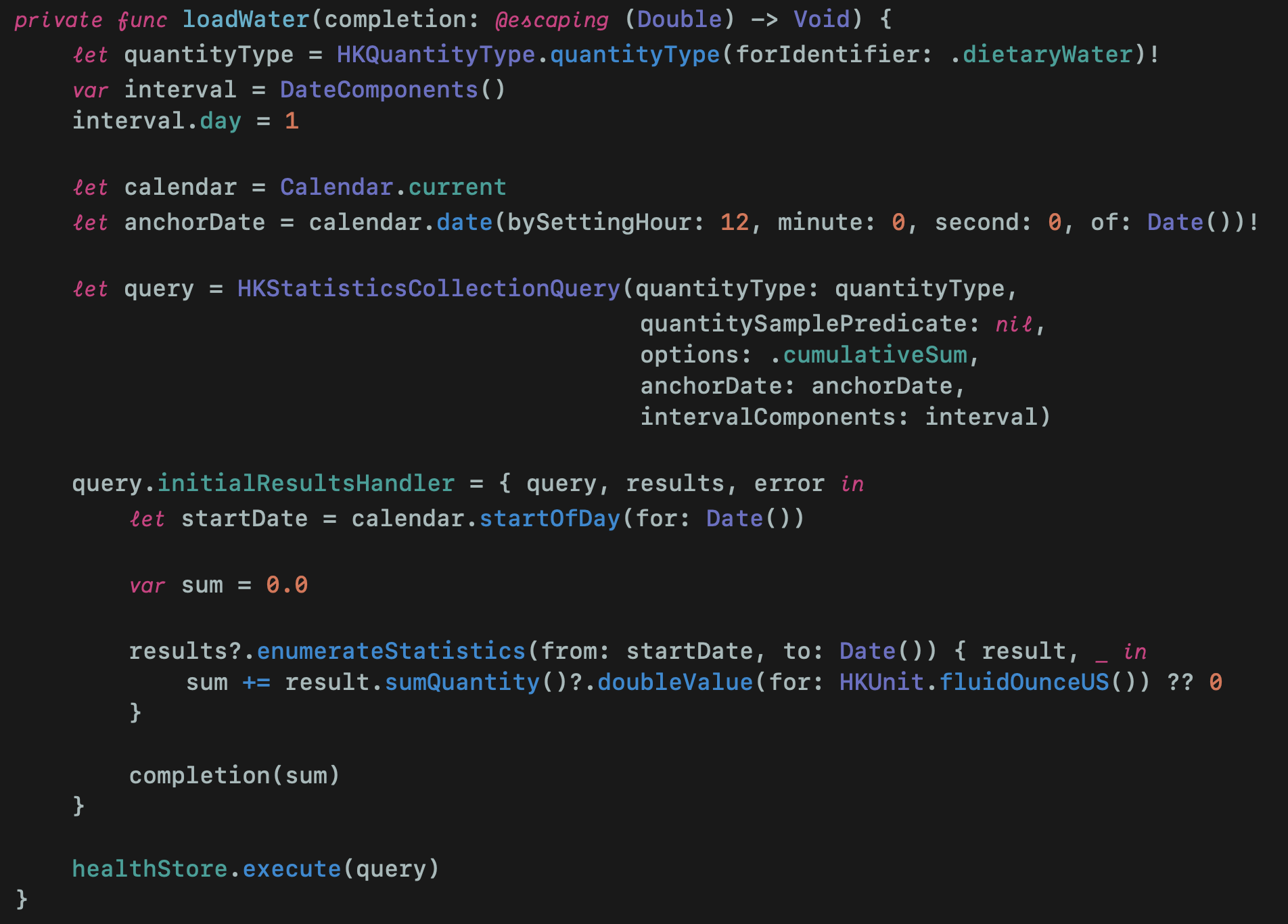 LoadWater method inside Provider struct