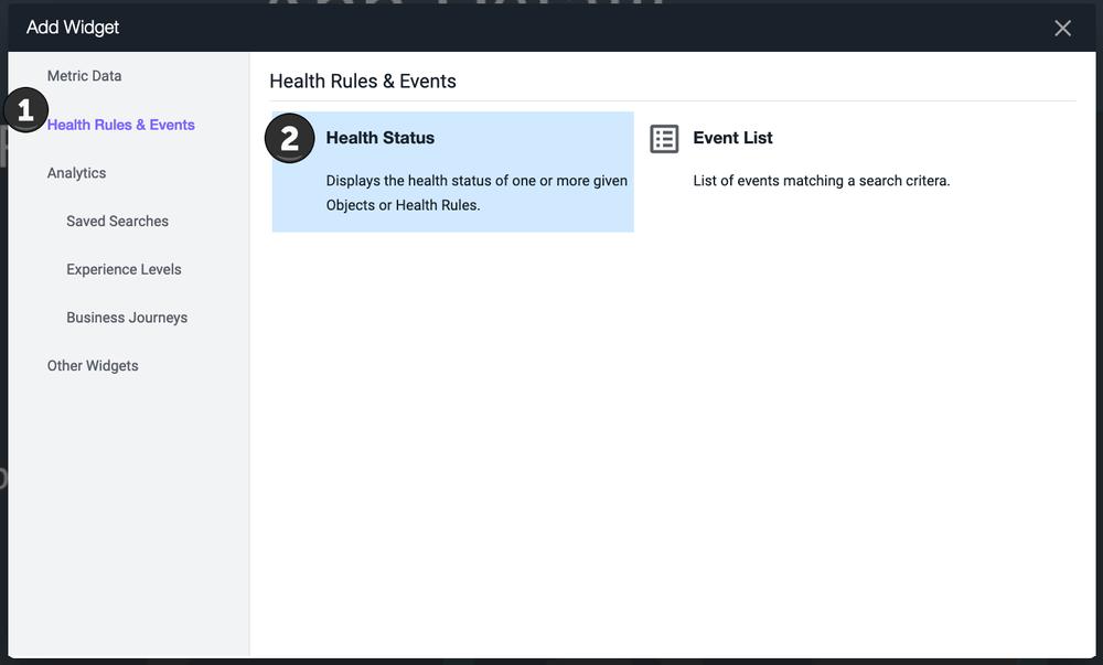 Health Status Widget
