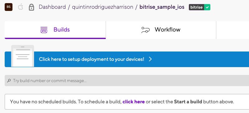 Workflow tab