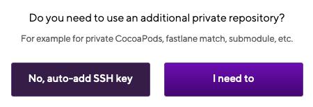 Additional private repository