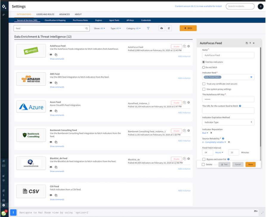 Palo Alto Networks Cortex XSOAR cloud integrations