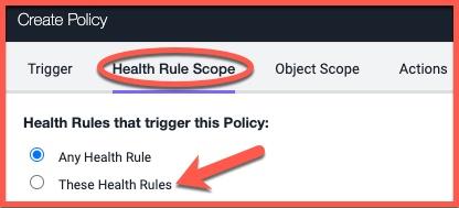 Health rule scope