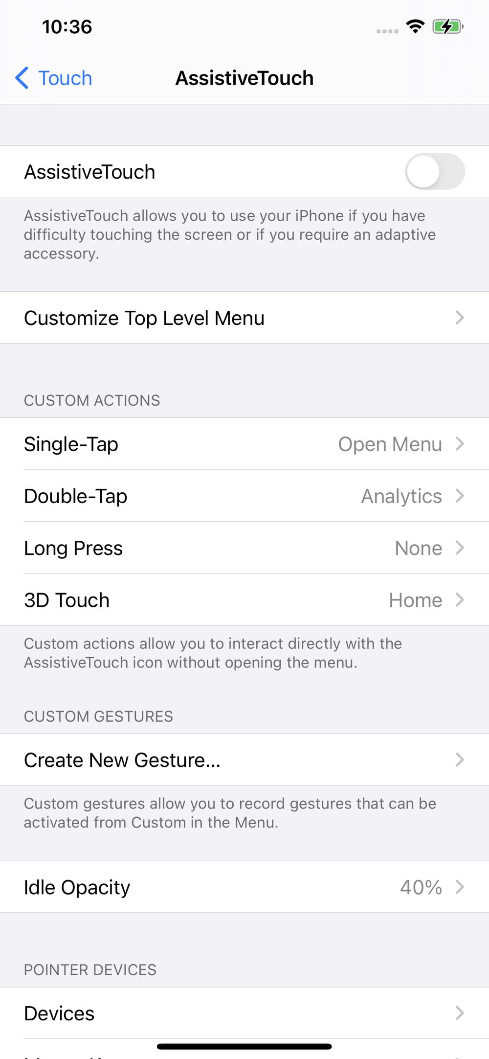 AssistiveTouch settings screen