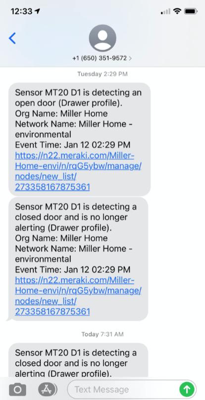 Data center access alerts