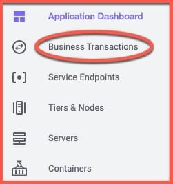Application menu with BT selected