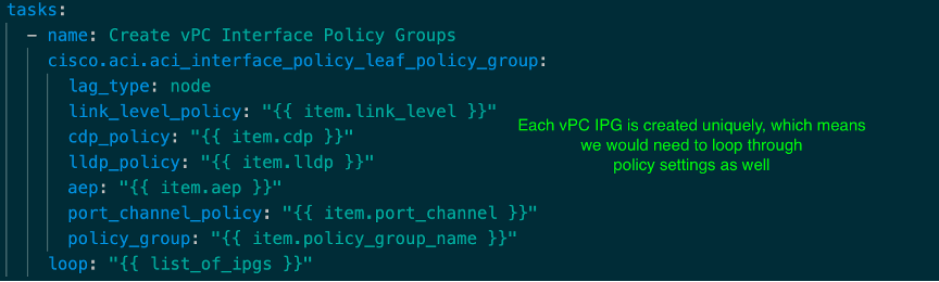 Ansible task with design pattern #3