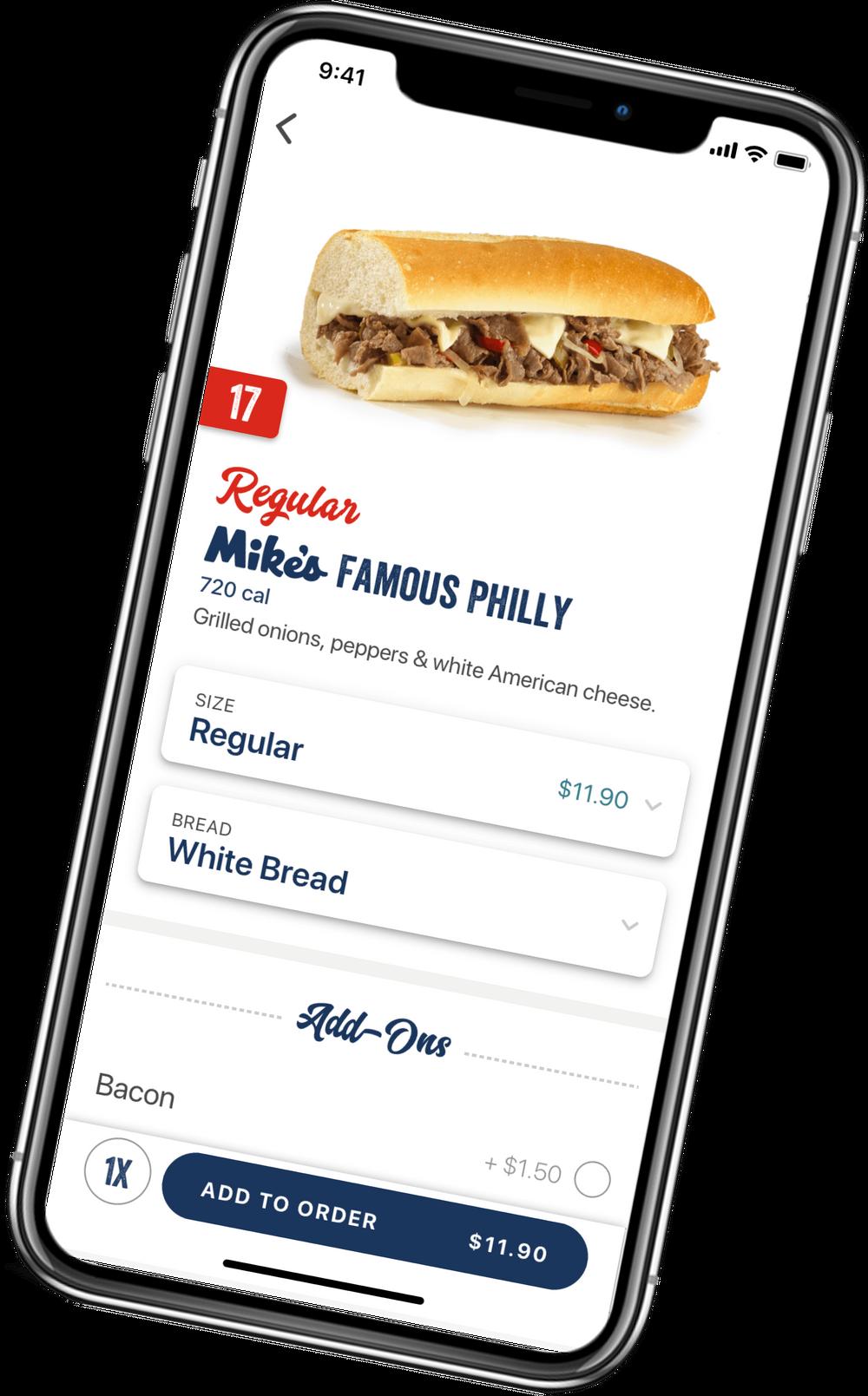 app checkout screen
