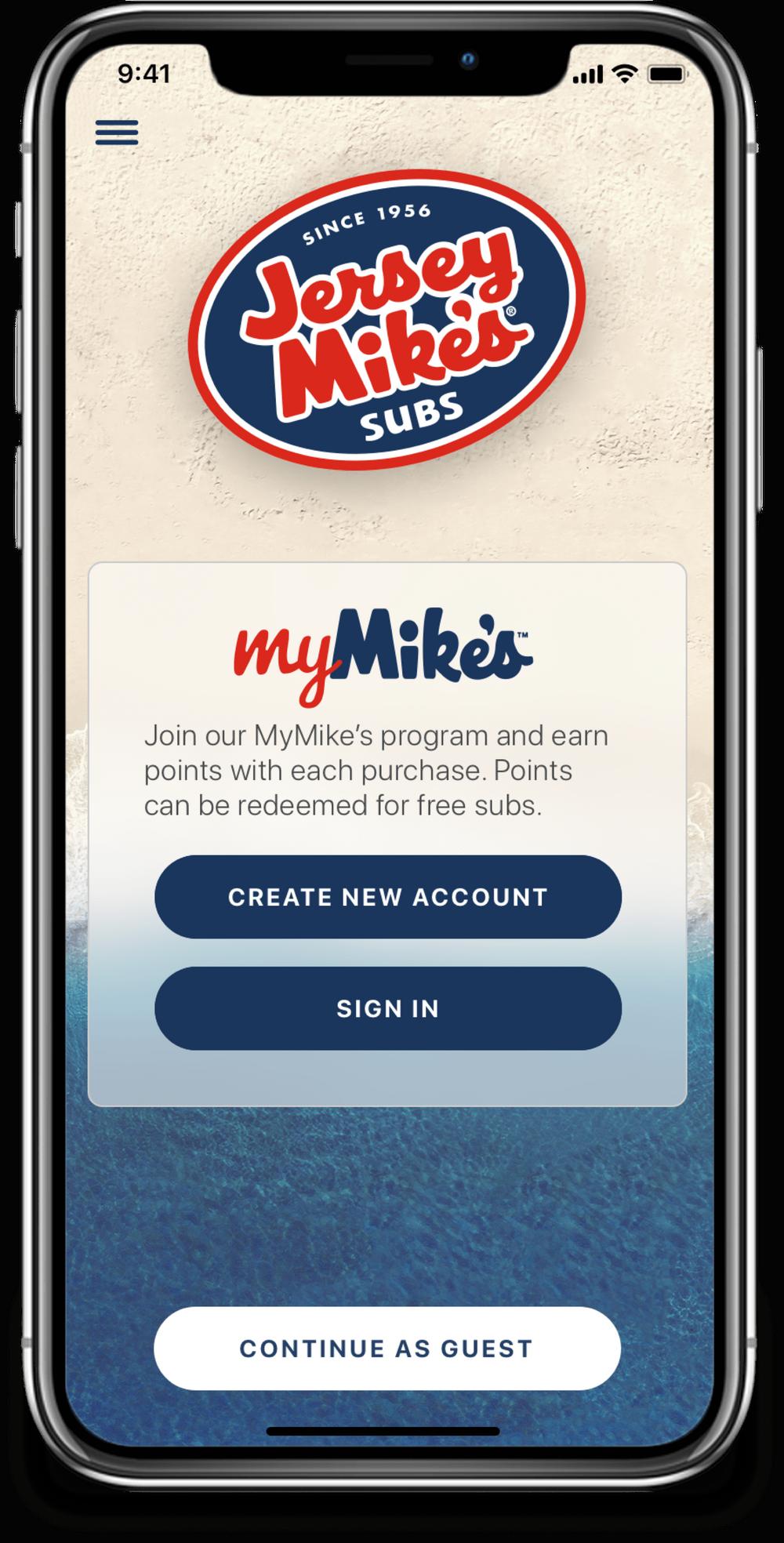 myMikes app screen