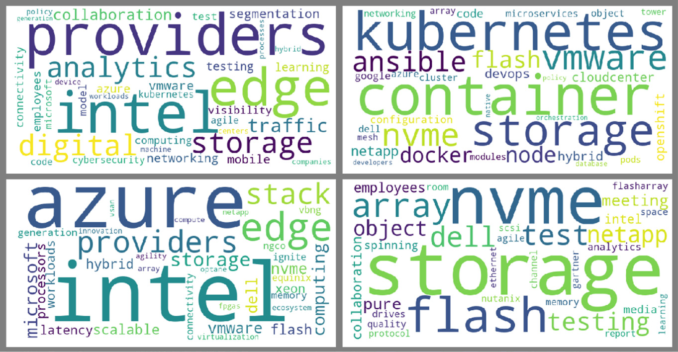 Figure 4 - Word cloud visualization of topic modeling results