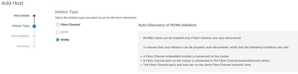 NVMe implementation