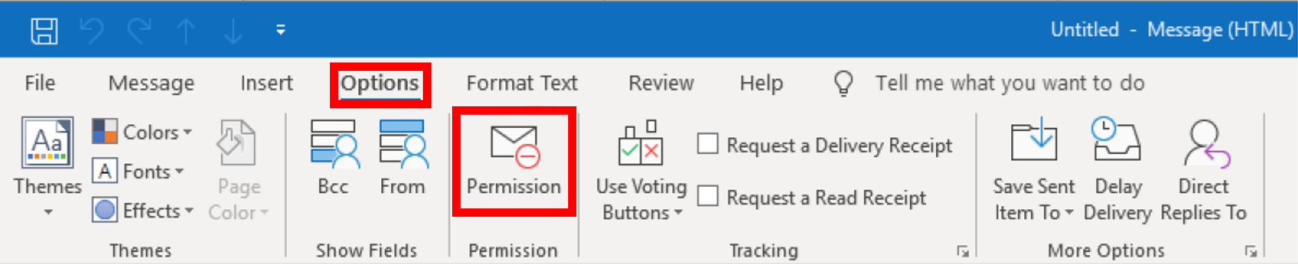 Permission icon in Microsoft Word app
