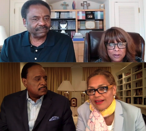 Dave and Thelma Steward (top) and JB and Dorothy Brown (bottom) on a recent WWT Family & Friends Prayer Call.