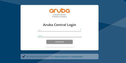Aruba Central login